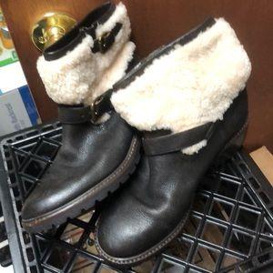 Coach shearling booties
